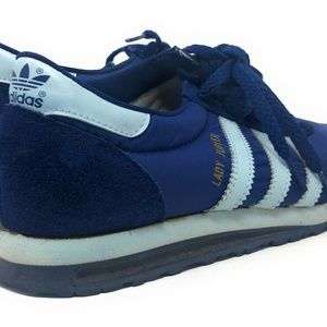 Vintage Adidas Lady Jupiter Shoes 80s Navy Suede 7